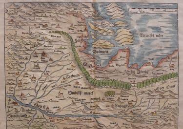 MUNSTER'S EARLY MAP OF SLOVENIA CROATIA  AUSTRIA