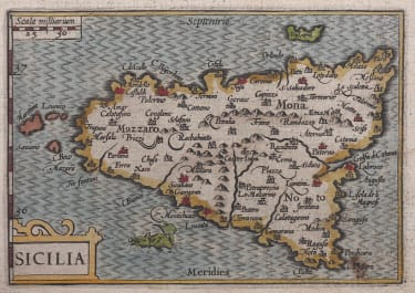 LANGENES MAP OF SICILY