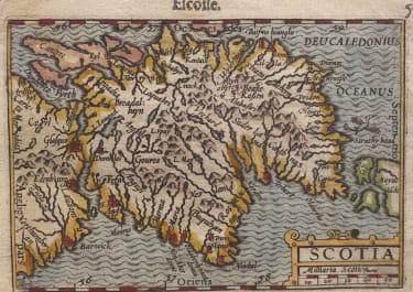 LANGENES MAP OF SCOTLAND
