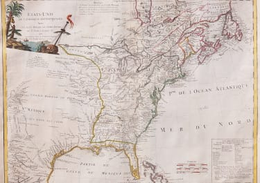 EARLY SCARCE MAP OF THE NEW UNITED STATES PRINTED IN 1785