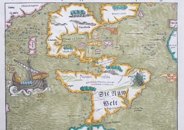 MUNSTER'S RARE EARLY MAP OF THE AMERICAS 1550