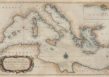 SEALE'S SUPERB CHART OF THE MEDITERRANEAN 1742