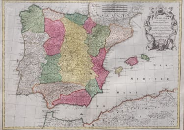 LOTTER'S MAP OF SPAIN