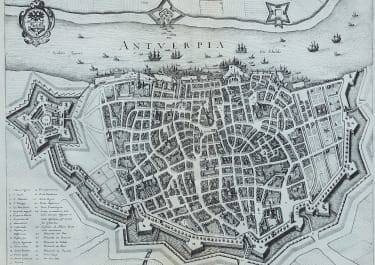 MERIAN'S SUPERB PLAN OF ANTWERP
