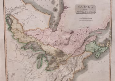 JOHN THOMSON'S MAP OF CANADA
