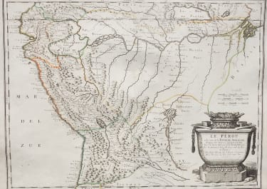 SANSON'S EARLY MAP OF THE AMAZON