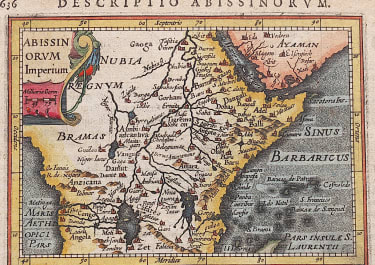 MAP OF EAST AFRICA BY BERTIUS 1616
