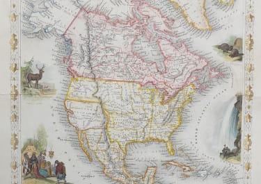 TALLIS MAP OF NORTH AMERICA