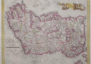 MERCATOR'S FOLIO MAP OF IRELAND  ORIGINAL COLOUR