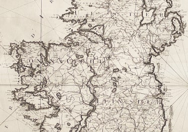 BELLIN'S MONUMENTAL MAP OF IRELAND ..FOR DEPOT DE LA MARINE
