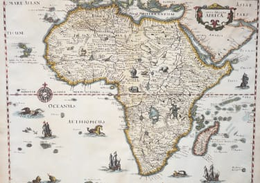 MERIAN'S 1640 MAP OF AFRICA
