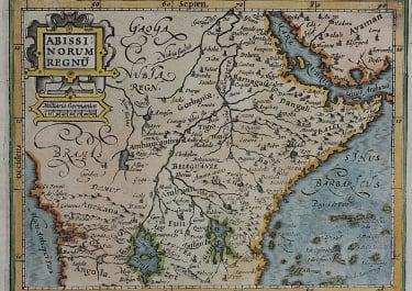 EAST AFRICA   MERCATOR ATLAS MINOR  1610