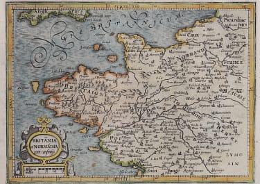 BRITANNY & NORMANDY  MERCATOR  ATLAS MINOR