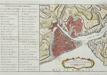 BELLIN'S RARE MAP OF CONSTANTINOPLE
