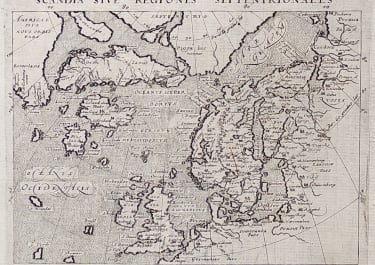 MAGINI'S MAP OF THE NORTH ATLANTIC  1597