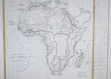VAUGONDY  DELAMARCHE LARGE FOLIO MAP OF AFRICA