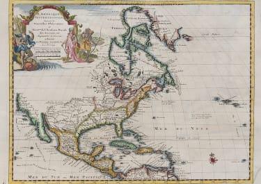 VAN DER AA'S MAP OF NORTH AMERICA