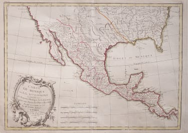 LATTRE MAP OF MEXICO & TEXAS 1774