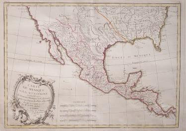 LATTRE MAP OF MEXICO & TEXAS 1774