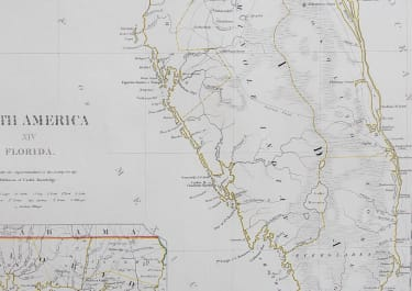 SDUK MAP OF FLORIDA 1834