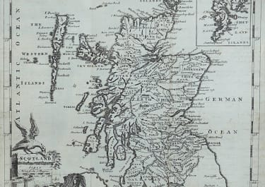 ThOMAS JEFFERYS MAP OF SCOTLAND 1749