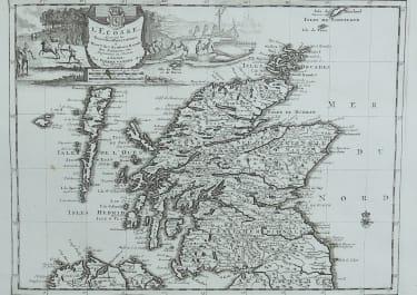 VAN DER AA'S RARE MAP OF SCOTLAND