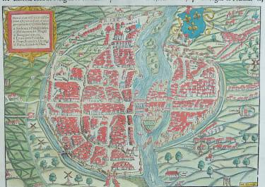 MUNSTER'S PLAN OF PARIS .. RARE ITALIAN EDITION