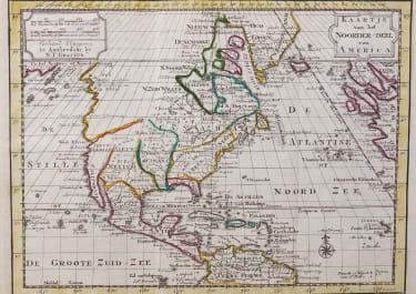 UNCOMMON GRAVIUS MAP OF NORTH AMERICA