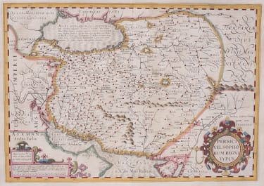MERCATOR'S ORIGINAL COLOUR FOLIO MAP  OF PERSIA