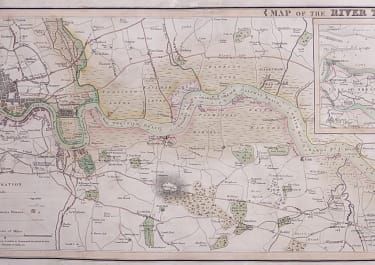 SMITH'S RARE LARGE CHART OF THE THAMES FROM LONDON TO THE SEA