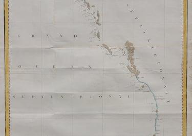 LA PEROUSE CHART OF THE NORTH WEST COAST OF AMERICA FRIM SAN FRANCISCO TO ALASKA