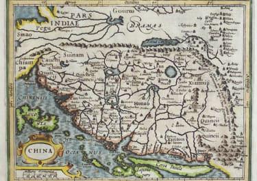 MERCATOR HONDIUS MAP OF CHINA FROM ATLAS MINOR