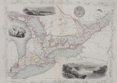CANADA  TALLIS MAP OF TORONTO  ONTARIO