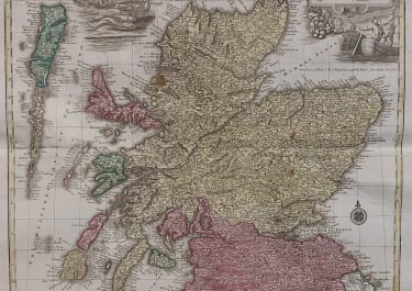 LOTTER'S FOLIO MAP OF SCOTLAND