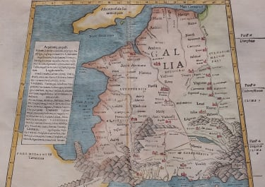 MUNSTER'S FIRST EDITION MAP OF PTOLOMAIC FRANCE