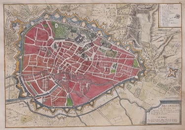 DE FER RARE BRUSSELS MAP