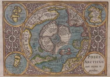 MERCATOR HONDIUS POLAR ARCTIC 1609