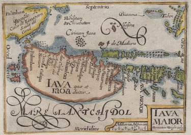 LANGENES MAP OF JAVA 1600