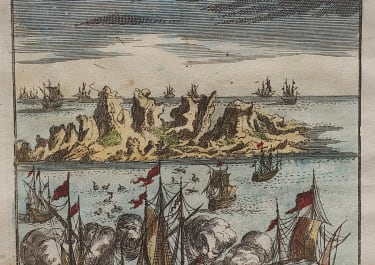 MALLET'S VIEW OF ASCENSION ISLAND 1686