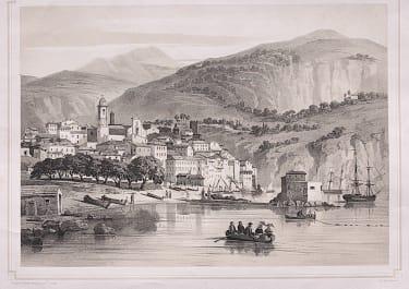 RARE LITHOGRAPH OF VILLEFRANCHE RIVIERA
