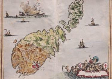 DAPPER'S SUPERB MAP OF MALTA
