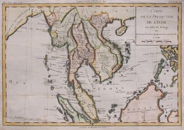 BRIO DE LA TOUR UNCOMMON MAP OF INDO CHINA AND MALAYSIA