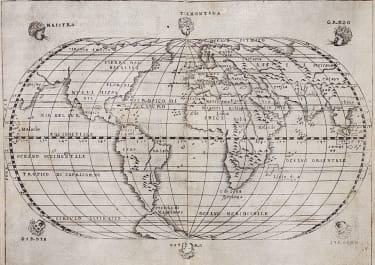 GASTALDI    RARE 1548 WORLD MAP