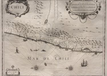 HONDIUS MAP OF CHILE