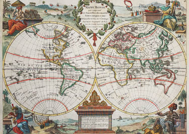 LE ROUGE DECORATIVE WORLD MAP