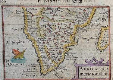 LANGENES BERTIUS MAP OF SOUTH AFRICA