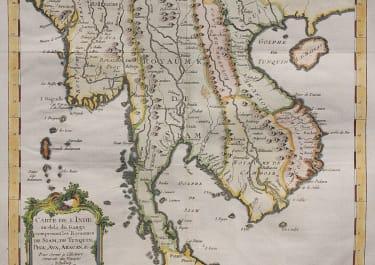 BELLIN MAP OF THAILAND, BURMA, VIETNAM & CAMBODIA