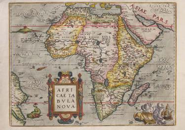 ORTELIUS SUPERB FOLIO MAP OF AFRICA