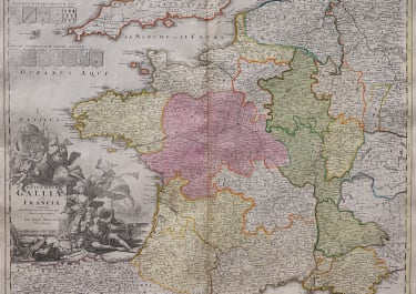 HOMANN'S FOLIO MAP OF FRANCE