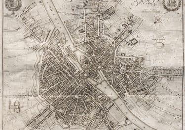 MERIAN'S SUPERB MAP OF PARIS